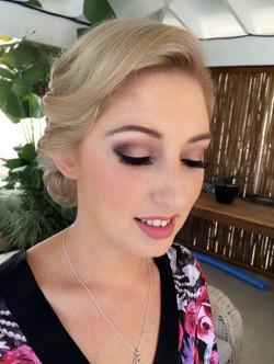 Romantic bridal hair style & makeup