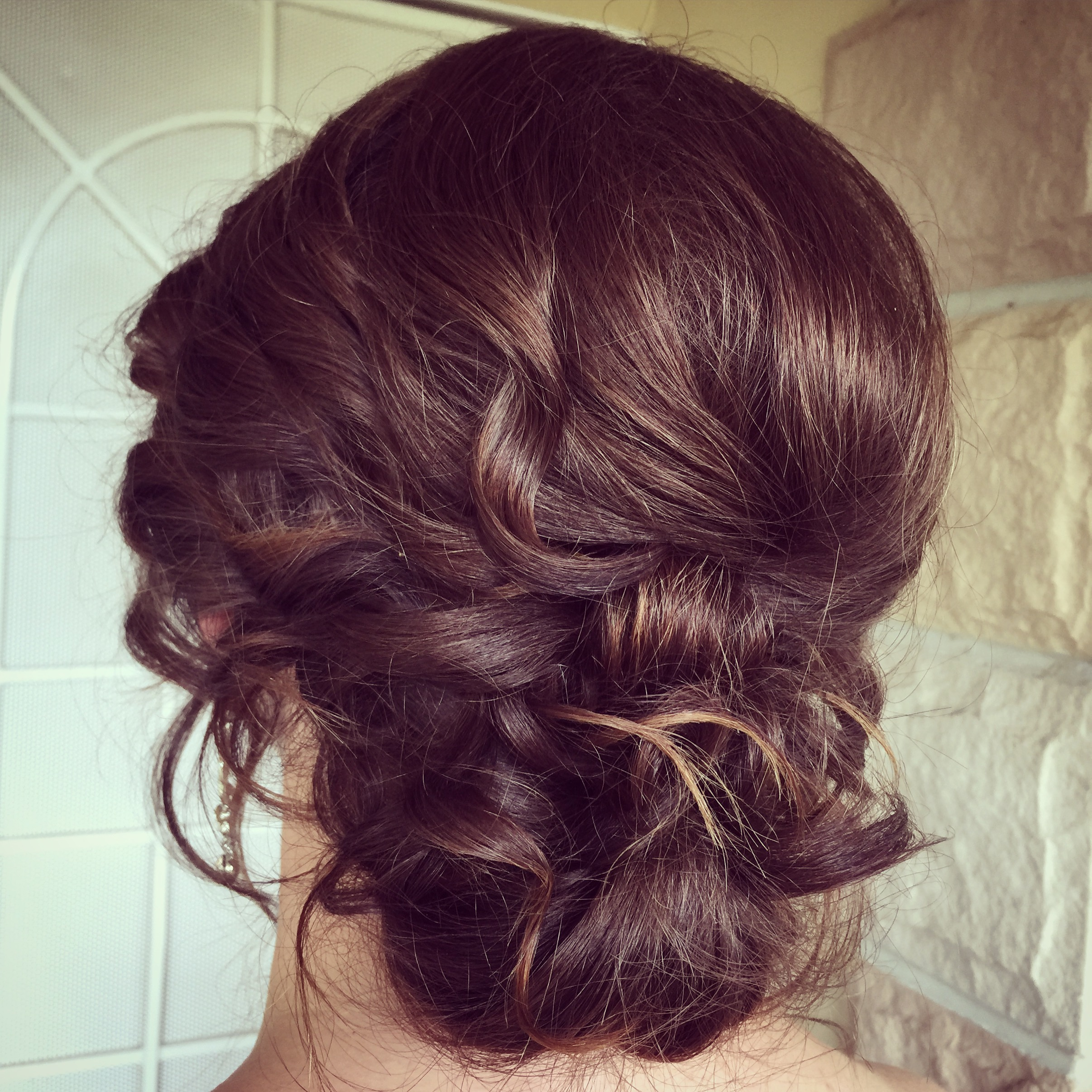 Romantic bridesmaid hairstyle