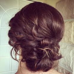 Romantic bridesmaid hairstyle