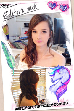 Formal makeup and hairstyle
