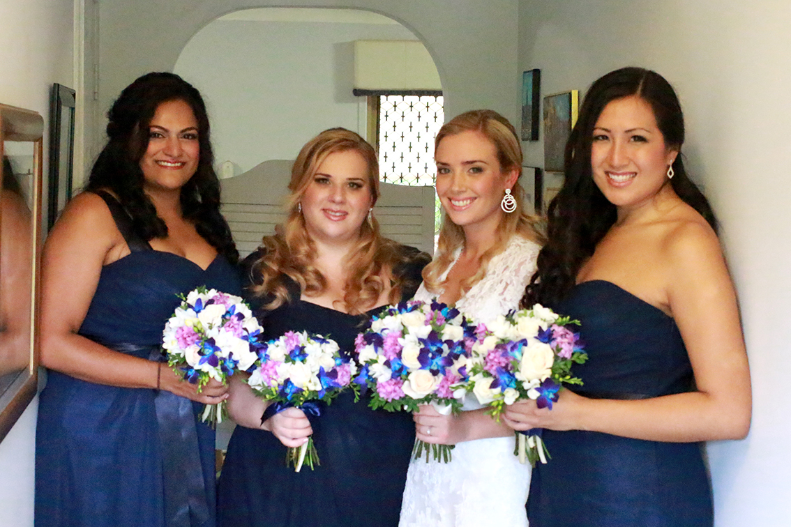 Brisbane bridal party makeup hair