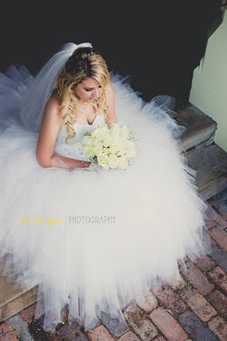 Bride airbrush makeup and hair style