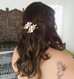 beautiful half up half down hair