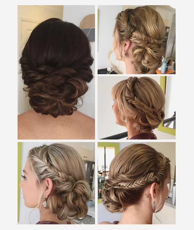 wedding brida party hair style ideas