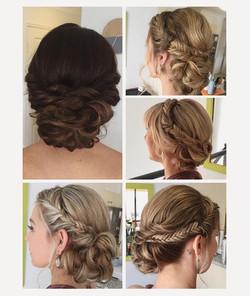 wedding brida party hair style ideas