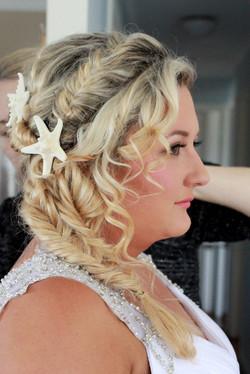 gold coast bridal makeup hairstyle