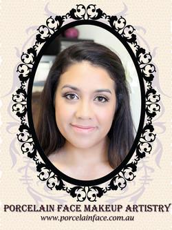 Wedding bride natural makeup