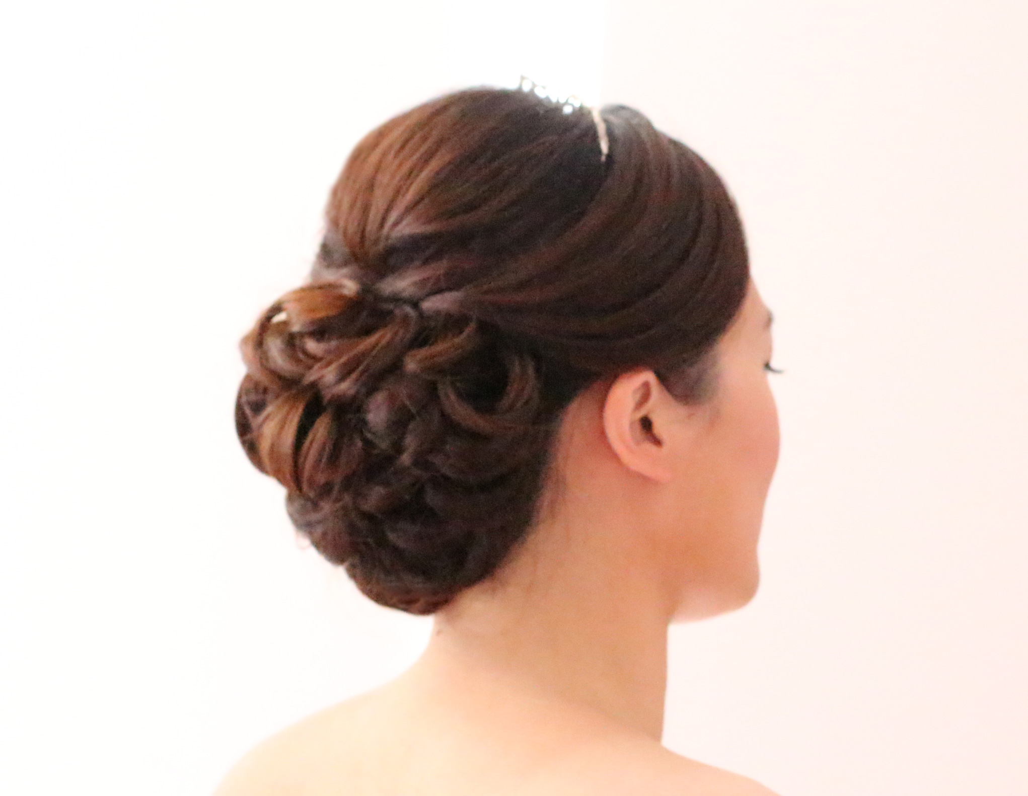 Asian style wedding hairstyle updo
