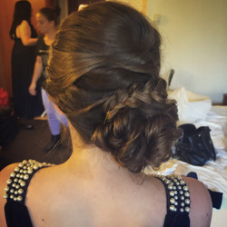 Bridesmaid hairstyle updo with braid