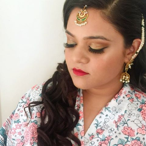 Indian bride hair and makeup artist
