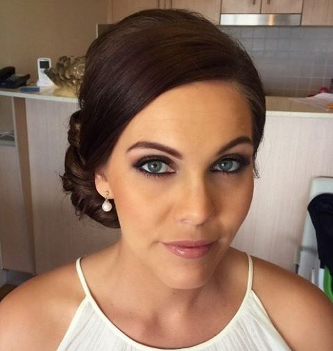 Elegant bridesmaids makeup and hair