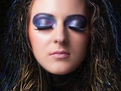 Creative makeup galaxy inspired