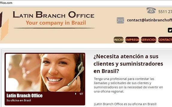 Imagem do site Latin Branch