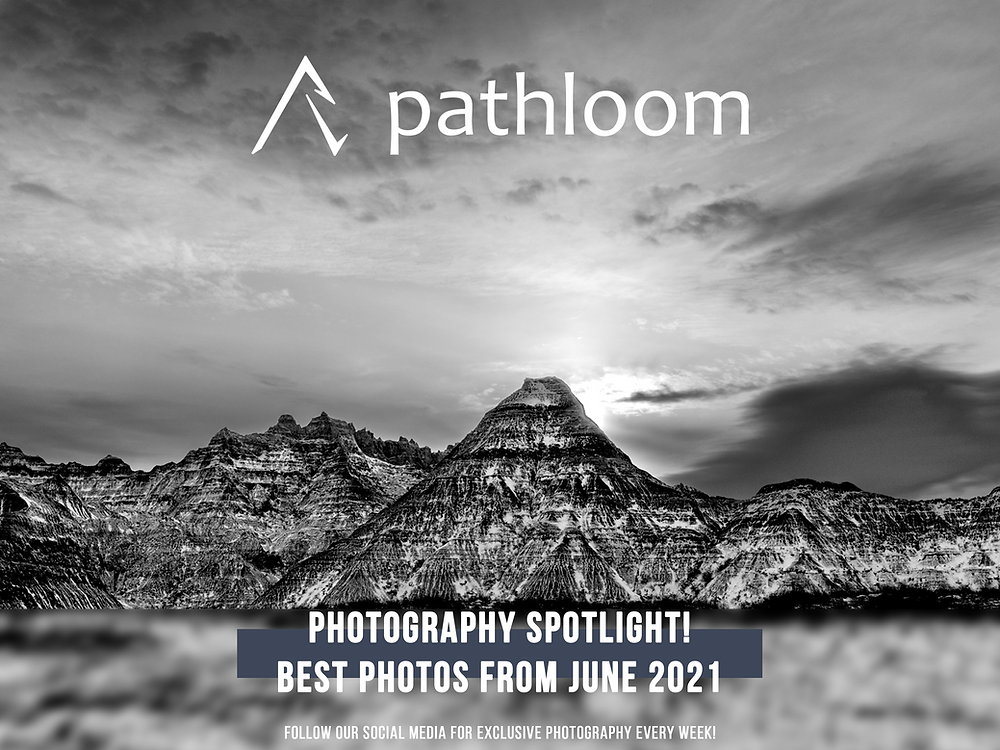 Black and White sorcery highlights the striated mountains of Badlands National Park in South Dakota