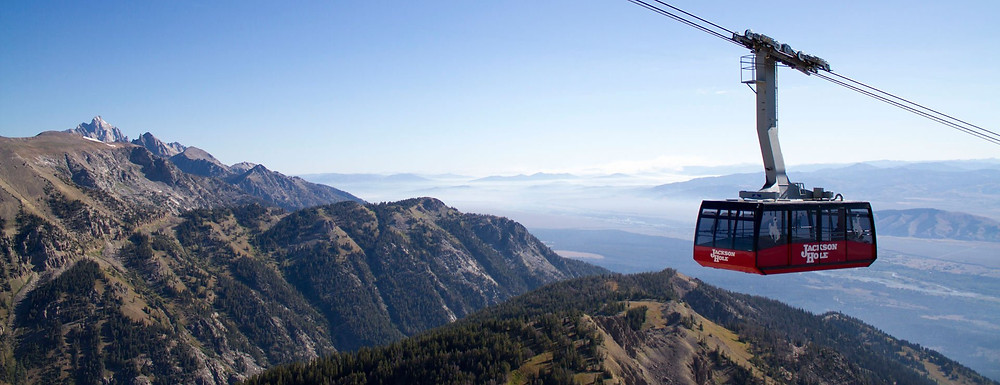 Amazing views of Grand Teton National Park from the aerial tram at Jackson Hole Resort