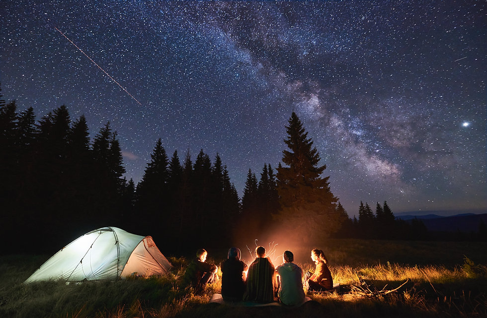Night-Campfire-by-Tent
