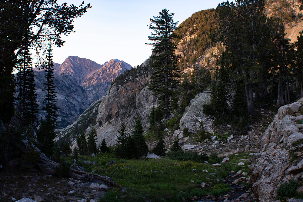 Sunset in the South Fork of Cascade Canyon - Photo Credit: Andrew Helmbrecht