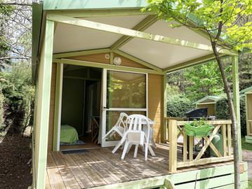 Entrée + Terrasse avec plancha - Chalet 2/3 personnes
