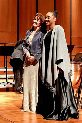 After the concert with my dearest Michel