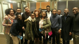 With my students after the concert of At