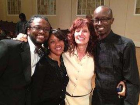 With my former students Janette Davis,(