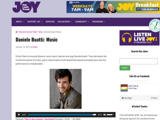 Interview with Emily Tresidder on JOY FM [How Do You Do That? / Arts / Daniele Buatti: Music]
