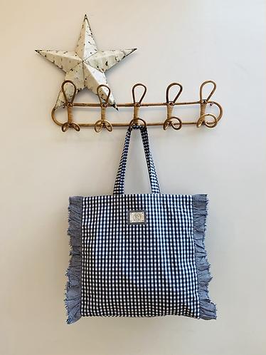 SMALL Lisa Cotton Gingham Fabric Bag