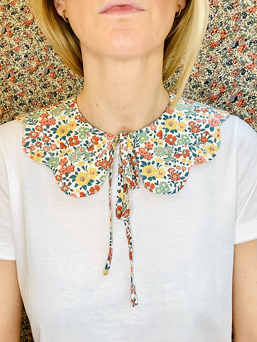 Kate Scalloped Collar - Made with Liberty Fabric