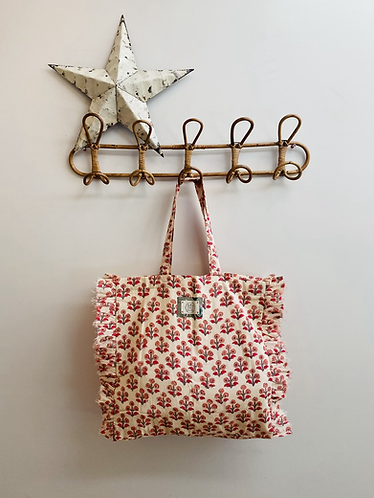 SMALL Camellia Cotton Fabric Bag