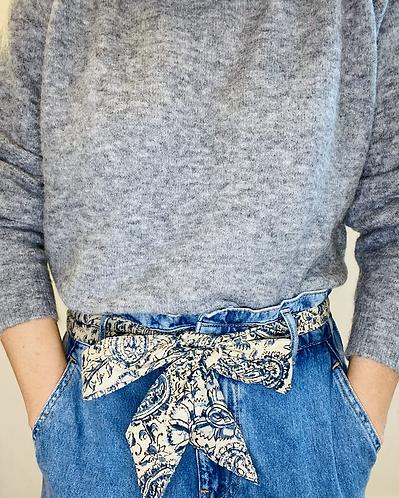 LONG Length Tanya Cotton Fabric Belt