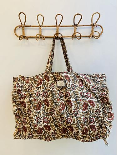 LARGE Saffron Cotton Fabric Bag