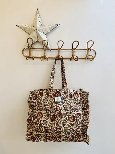 SMALL Saffron Cotton Fabric Bag