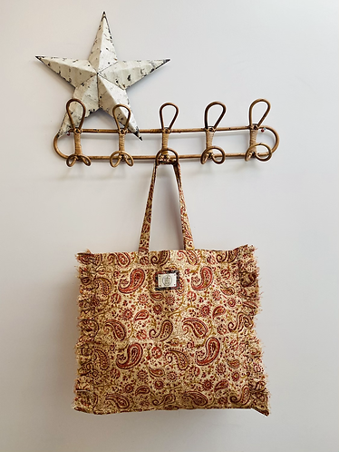 SMALL Penny Cotton Fabric Bag