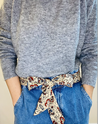 REGULAR Length Holly Cotton Fabric Belt