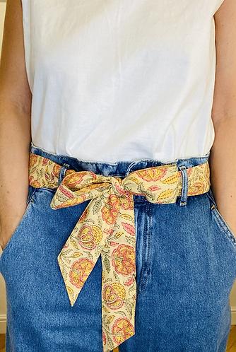 LONG Length Pippa Cotton Fabric Belt
