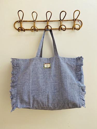 LARGE Sarah Linen Fabric Bag