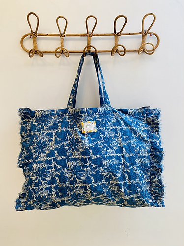 LARGE Indie Cotton Fabric Bag