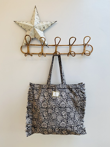 SMALL Ebony Cotton Fabric Bag
