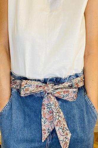 LONG Length Billie Cotton Fabric Belt