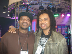 Carl with Eric Gales at NAMM