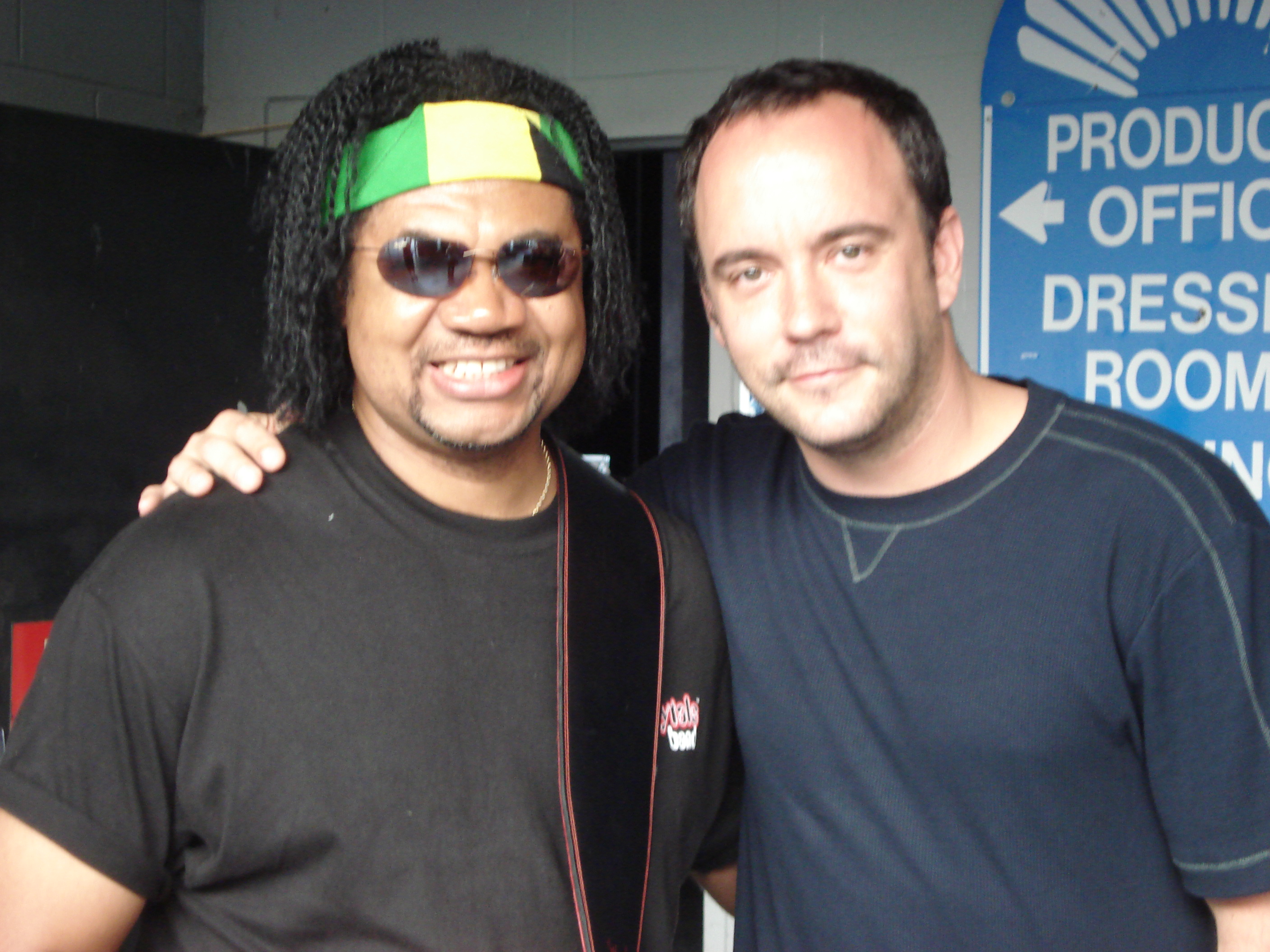 Carl Harvey with Dave Matthews