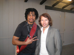 Carl Harvey with James Blunt