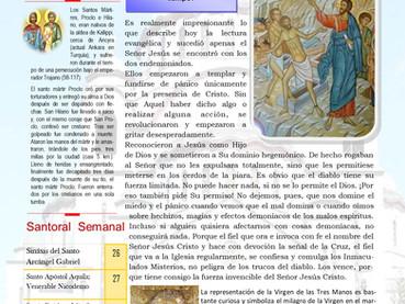 Boletín, 5to Domingo después de Pentecostés