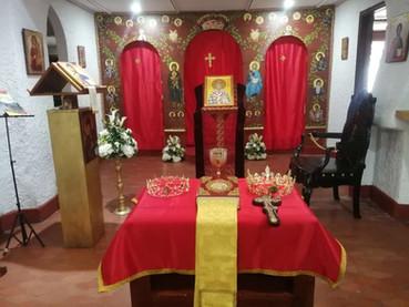 Arreglos en la Parroquia San Basilio de Ostrog, el milagroso. Barranquilla.