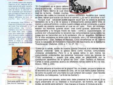 Boletín, 14 domingo despuès de Pentecostés