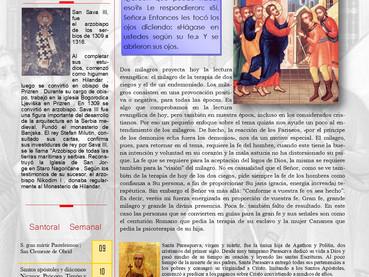 Boletín, Domingo 7mo después de Pentecostés