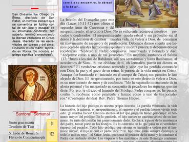 Boletín, Domingo del Hijo Pródigo