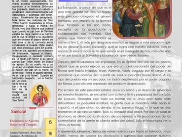 Boletín Dominical. Domingo 36 después de Pentecostés
