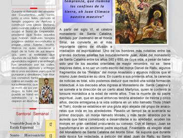 Boletín Dominical, Domingo de San Juan de la Escala
