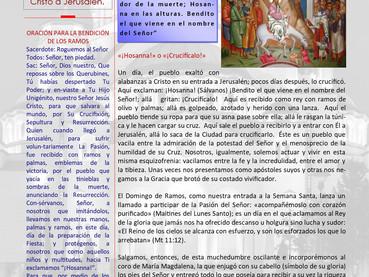 Boletín, Domingo de Ramos
